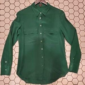 Aritzia 100% Silk Button Up